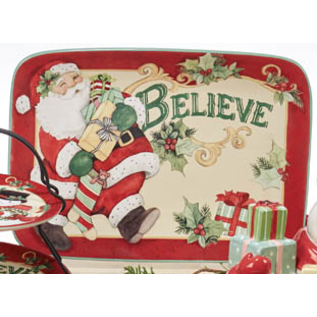 "Certified International Certified International Believe Rectangular Platter 14"" x 10"""