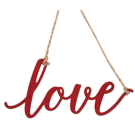 Brownlow Gifts Metal Ornament Charm Love