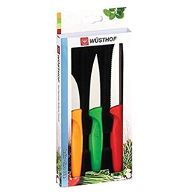 Wusthof Wusthof Zest Multi Color Paring Knife Set 3pc in Hanging Box DISCONTINUED