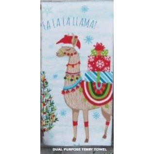 Kay Dee Designs Fa La La Llama Dual Purpose Terry Towel CLOSEOUT/ NO RETURN