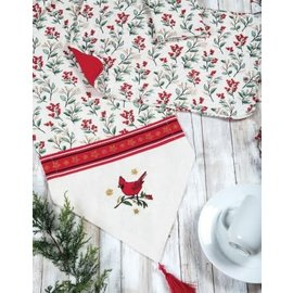Kay Dee Christmas Cardinal Sparkle Quilted Placemat CLOSEOUT/ NO RETURN