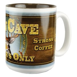 Rivers Edge Rivers Edge Deer Man Cave Mug 16 oz CLOSEOUT