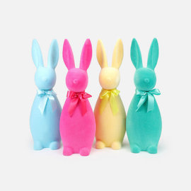 One Hundred 80 Degrees One Hundred 80 Degrees Flocked Button Nose Bunny Large 27 inch Assorted