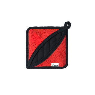 Lodge Cast Iron Lodge Silicone & Fabric Potholder / Trivet Red