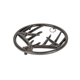 Lodge Cast Iron Lodge Enameled Cast Iron Antler Trivet Midnight Chrome