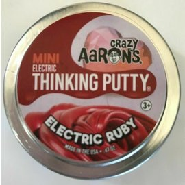 Crazy Aaron's Puttyworld Crazy Aaron's Thinking Putty 2 inch tin Electric Ruby