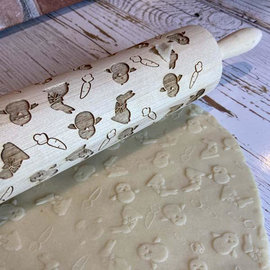 DesignWrap Brands(White Peacock) Engraved Rolling Pin Bunny