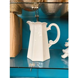 "DeRose Designs Derose Designs White Water Pitcher 11""  holds 12 cups CLOSEOUT/NO RETURNS"