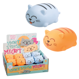 Toysmith Toysmith Don't Stress Meow Chubby Kitty