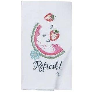 Kay Dee Summer Fun Watermelon Embroidered Flour Sack Towel