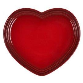 Le Creuset Le Creuset Large Heart Plate 9 inch Cerise