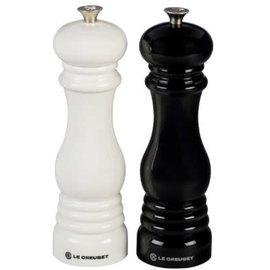 Le Creuset Le Creuset Salt and Pepper Mill Set Black & White
