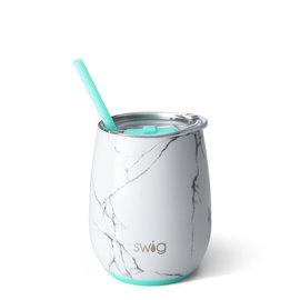 Swig Swig Stemless Wine Cup 14 oz Marble Slab