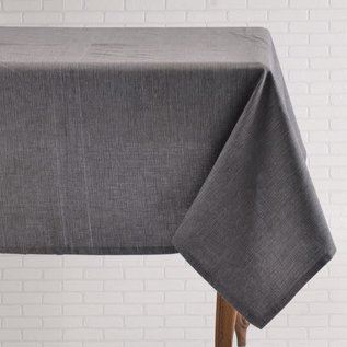 Mahogany USA Mahogany Tuscany Charcoal Tablecloth 60 in. x 90 in.