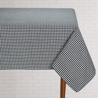 Mahogany USA Mahogany Gingham Black Tablecloth 60 in. x 120 in.