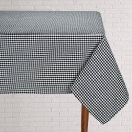 Mahogany USA Mahogany Gingham Black Tablecloth 60 in. x 90 in.