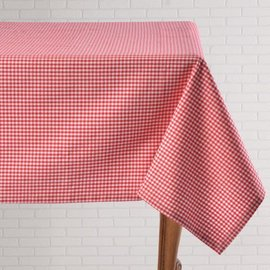 Mahogany USA Mahogany Gingham Red Tablecloth 60 in x 90 in