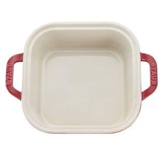 Staub Staub Ceramic Covered Square Baking Dish 9 inch Cherry