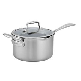 Zwilling J.A. Henckels Zwilling Clad CFX Stainless Steel Ceramic Nonstick 4 Qt Saucepan