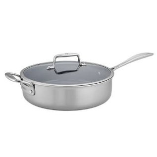 Zwilling J.A. Henckels Zwilling Clad CFX Stainless Steel Ceramic Nonstick 5 Qt Saute Pan