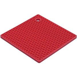 Harold Import Company Inc. HIC Honeycomb Trivet Cherry Red