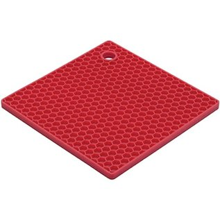 Harold Import Company Inc. HIC Honeycomb Trivet Red
