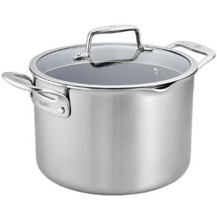 Zwilling J.A. Henckels Zwilling Clad CFX Stainless Steel Ceramic Nonstick 8 Qt Dutch Oven with Lid