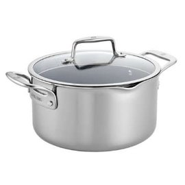 Zwilling J.A. Henckels Zwilling Clad CFX Stainless Steel Ceramic Nonstick Dutch Oven 6 Qt with Lid