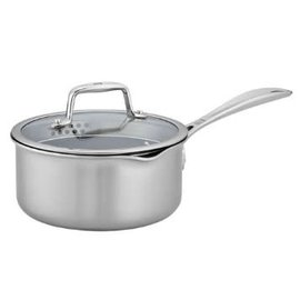 Zwilling J.A. Henckels Zwilling Clad CFX Stainless Steel Ceramic Nonstick Saucepan 3 Qt with Lid