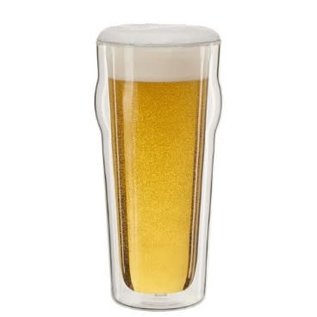 Zwilling J.A. Henckels Zwilling Sorrento Double Wall Pint Beer Glass 16 oz set of 2