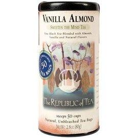 Republic of Tea The Republic of Tea Vanilla Almond Black Tea Round Bags 50 Serving Tin