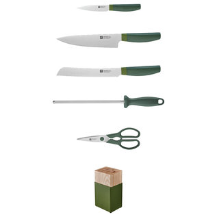 Zwilling J.A. Henckels ZWILLING NOW 6pc Knife Block Set Green