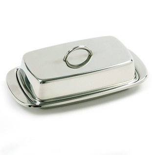 Norpro Norpro Stainless Steel Double Covered Butter Dish