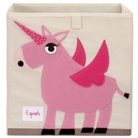3 Sprouts 3 Sprouts Storage Box Unicorn