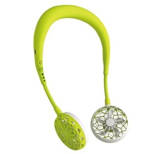 Time Concept, Inc. Time Concept Wfan Wearable Hands Free Fan v2.0 Lime Green