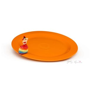 Nora Fleming Nora Fleming Fiesta Platter & Mini Set butterscotch w/ dancing lady