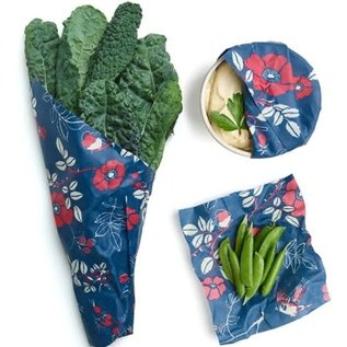 Bees Wrap Bee's Wrap ASSORTED 3 pack Botanical Blue