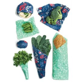 Bees Wrap Bee's Wrap VARIETY 7 pack Botanical Blue & Floral Teal