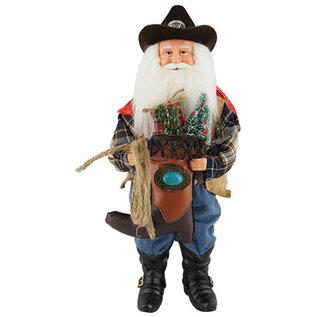 Santa's Workshop Cowboy Santa with Boot 15 Inch