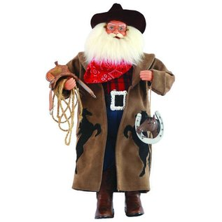 Santa's Workshop Cowboy Santa with Horseshoe 18""
