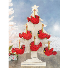 Hanna's Cardinal Christmas Ornament Assorted CLOSEOUT/NO RETURNS