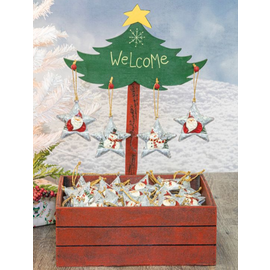 Hanna's Festive Star Ornament Assorted CLOSEOUT/NO RETURNS