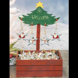Hanna's Handiworks Festive Star Ornament Assorted CLOSEOUT/NO RETURNS