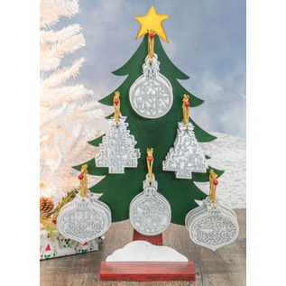 Hanna's Frost Holiday Greeting Ornament Assorted