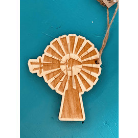 DesignWrap Brands(White Peacock) White Peacock Engraved Ornament Windmill