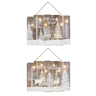 Hanna's Handiworks Snowy Forest Hanger with Lights Assorted
