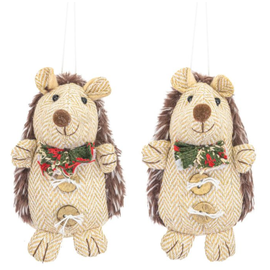 Hanna's Jolly Hickory Hedgehog Ornament Assorted