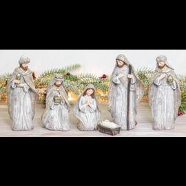 Hanna's Winter Glitter Nativity 6 pc Set