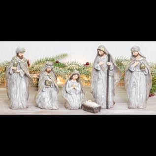 Hanna's Handiworks Winter Glitter Nativity 6 pc Set