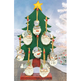 Hanna's Handiworks Jack Frost Resin Santa or Snowman Ornament Assorted CLOSEOUT/NO RETURNS